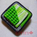 Bague Fimo grise et vert pomme (N)