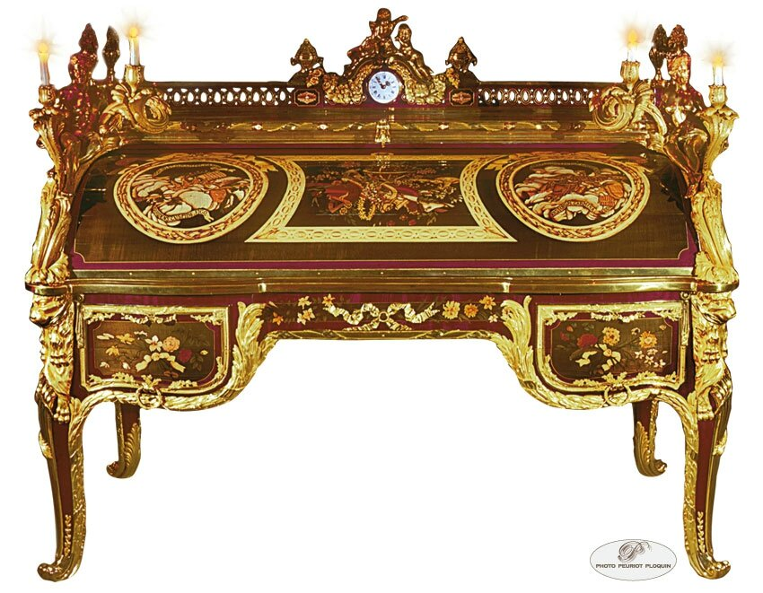 le bureau cylindre du roi louis xv escapades et d couvertes. Black Bedroom Furniture Sets. Home Design Ideas