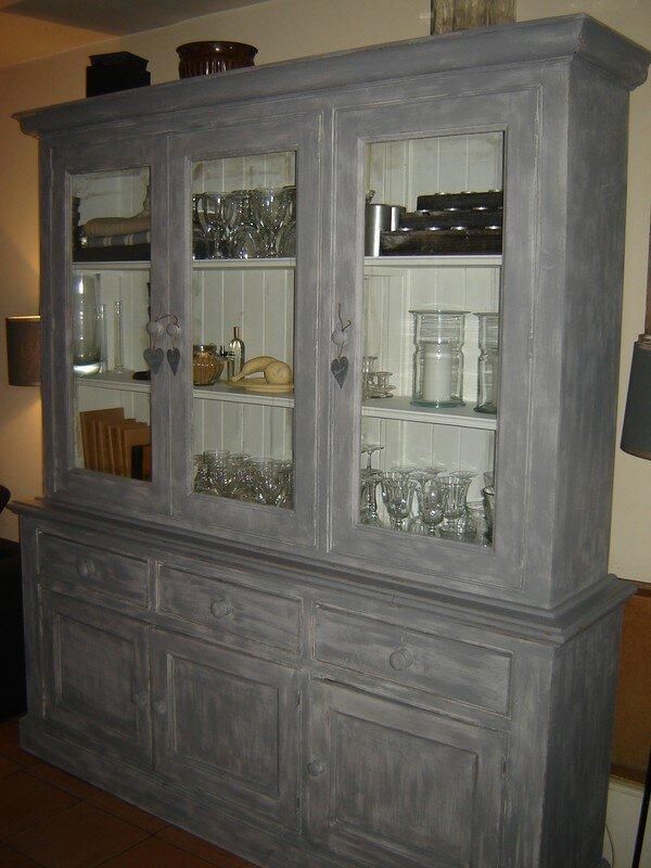 Fabulous extrieur gris with buffet patine gris ancien - Meuble ancien patine gris ...