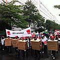 Francfort : neckermann en grève