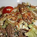 Salade de boeuf thaie