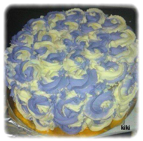 Gâteau damier dégradé de violet
