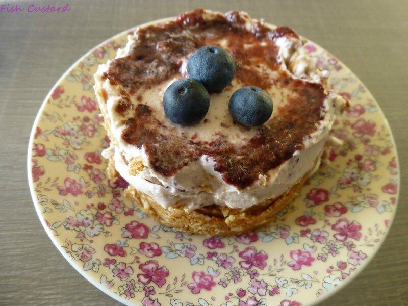 Cheesecake individuel sans cuisson à la myrtille (14)