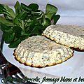 Flan au brocolis , fromage blanc et boursin