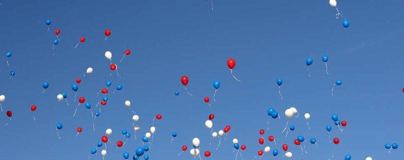 14 juillet ballons bleu blanc rouge