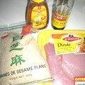 Poulet sauce soja et miel-sésame