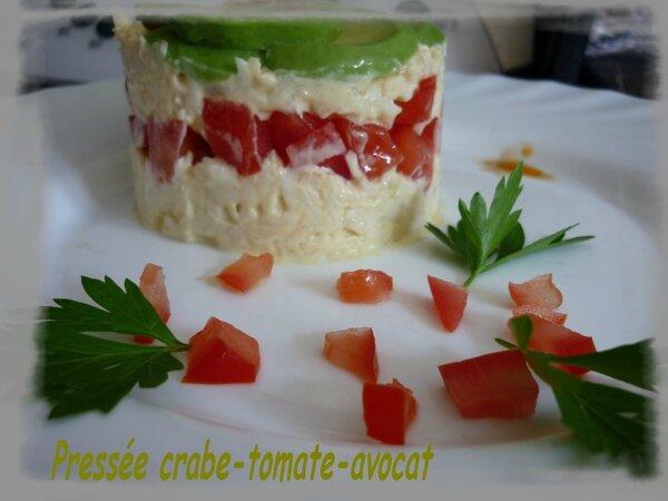 Pressée crabe tomate et avocat (2)