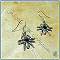Boucles d'oreilles araignées