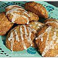 Biscuits aux flocons d'avoine et à la compote de pommes.