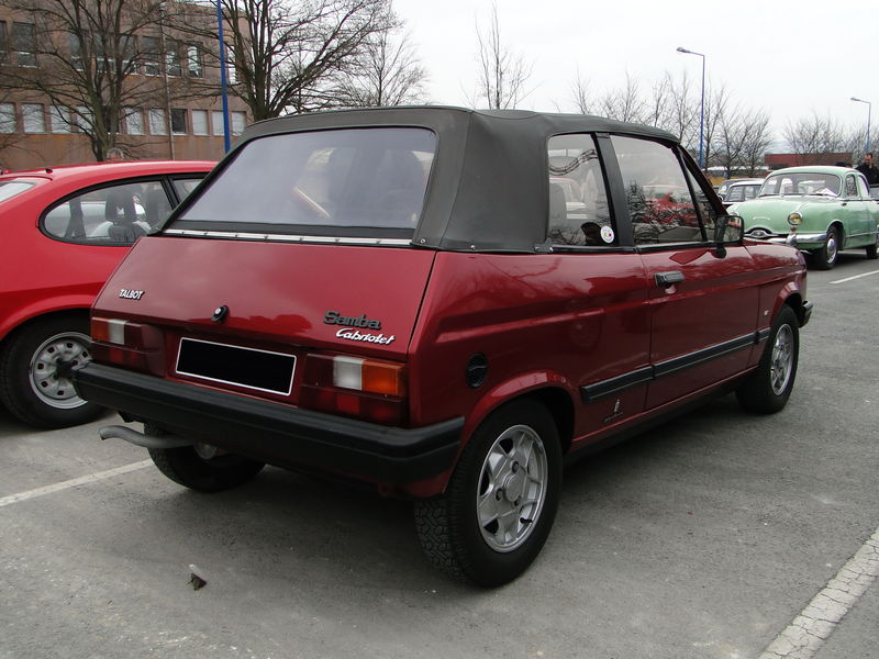 talbot samba cabriolet 1982 1986 oldiesfan67 mon blog auto. Black Bedroom Furniture Sets. Home Design Ideas