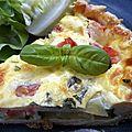 Tarte provençale à la mozzarella