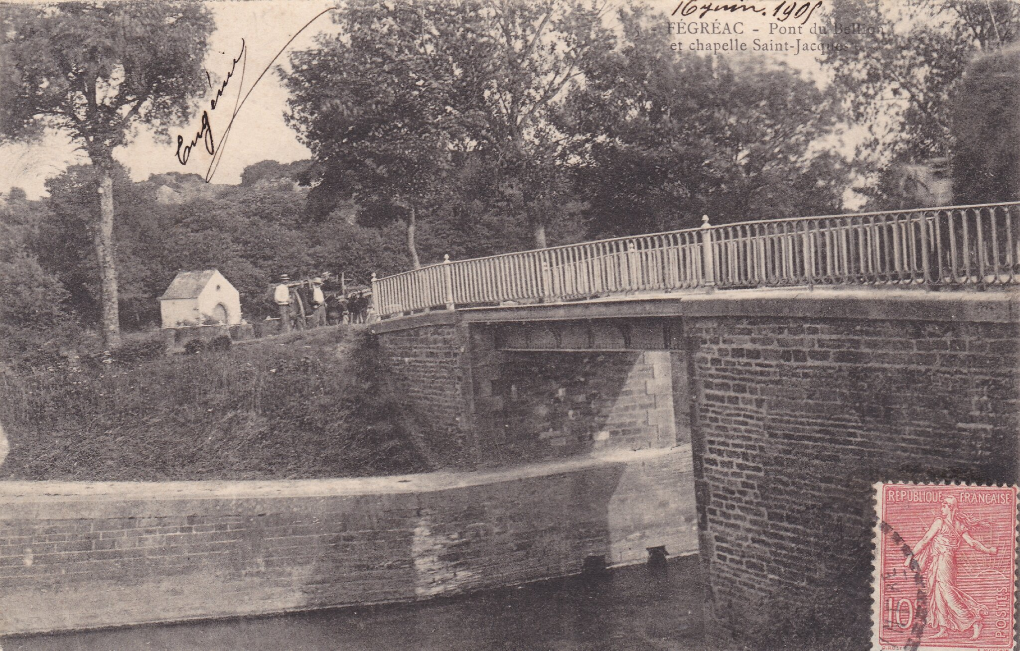 Fégréac Pont du Bellion et chapelle Saint-Jacques