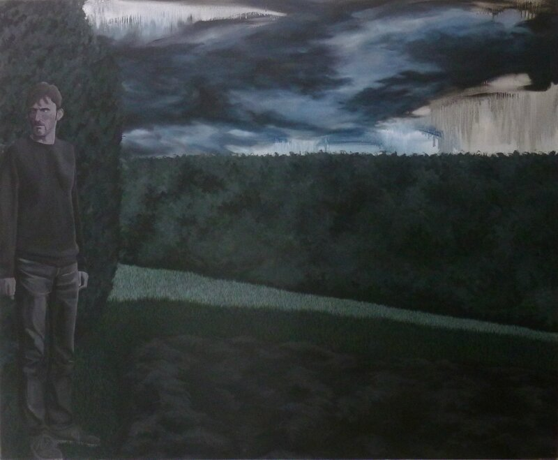 He's watching you, acrylique sur toile, 170x140cm, 2014