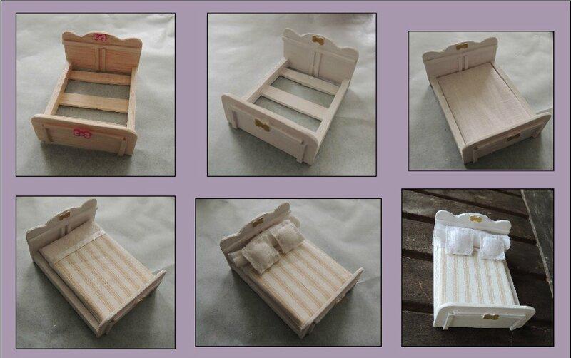 Lit tenshi 39 s creations - Comment faire un couvre lit matelasse ...
