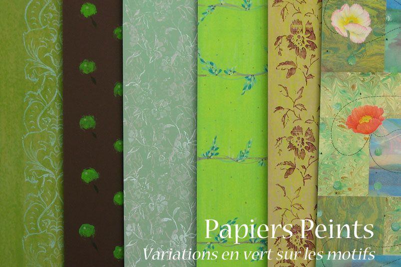 papiers peints variations en vert sur les motifs atelier cadrat. Black Bedroom Furniture Sets. Home Design Ideas