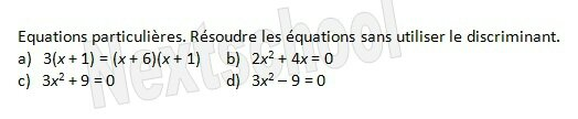 premiere second degre equation 3 2