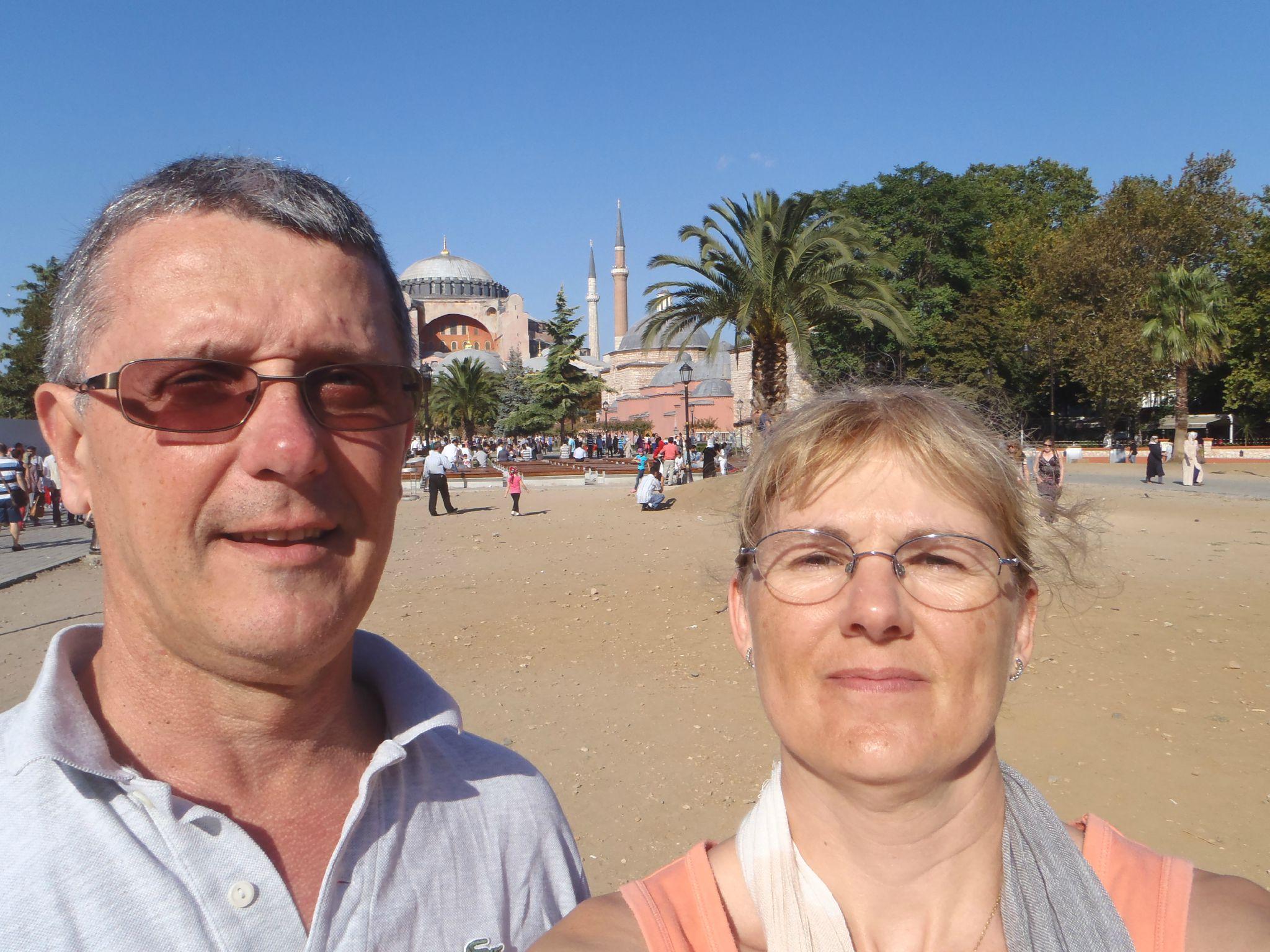 turquie istanbul derrière nous sainte sophie