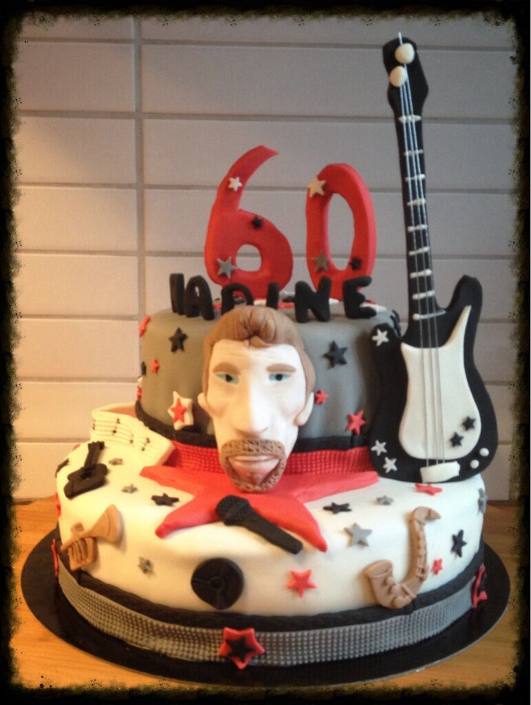 deco gateau johnny hallyday