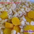 Salade tiède de crevettes