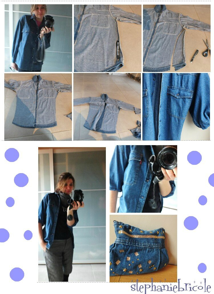Diy couture recup suite encore des vieux habits transform s et ou customis s st phanie - Comment couper un pantalon en short ...