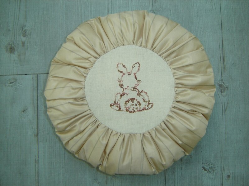 lapin coussin