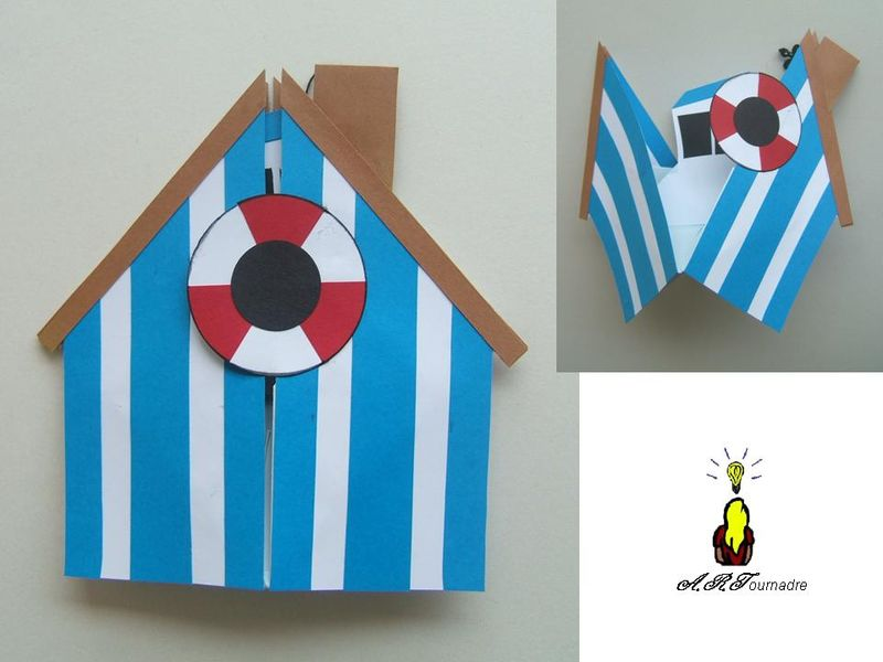 Carte Origami A La Plage Il Y A Les Passions D Art