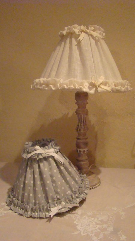 Des abat jour de grand m re perle de lumi res cr ation - Decoration shabby en ligne ...