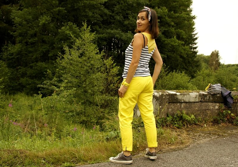 port trousers jaune 02