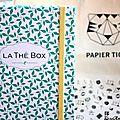 La thé box puret(h)é , édition spéciale papier tigre, un vrai trésor ! {+ 1 thé box à gagner dedans}