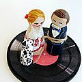 Cake toppers mariage rockabilly