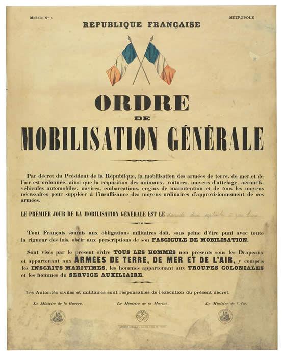 affiche mobilisation 1939