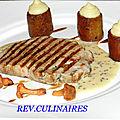 Filet de veau poché et grillé