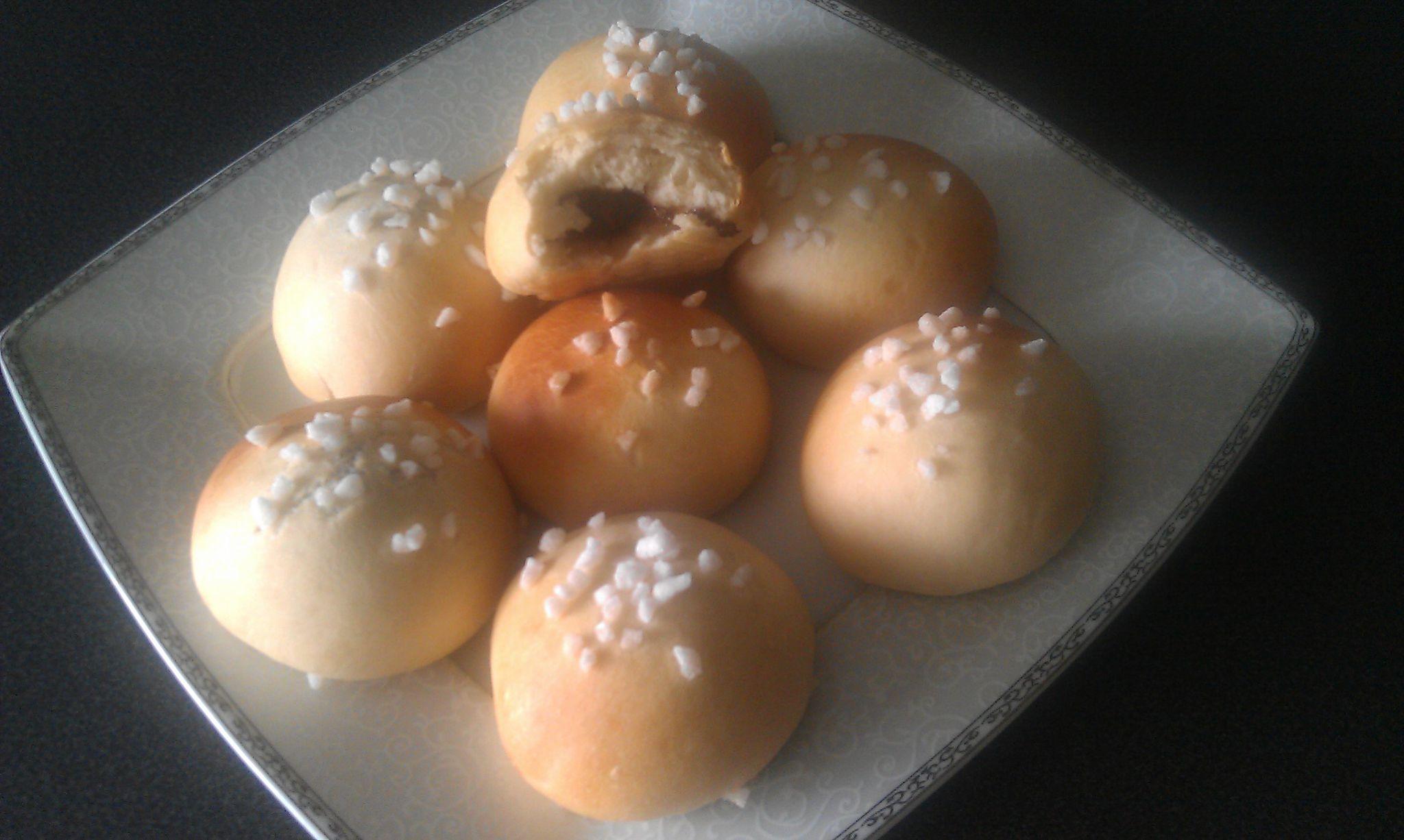 briochettes au elben (lait fermenté) fourrées au nutella