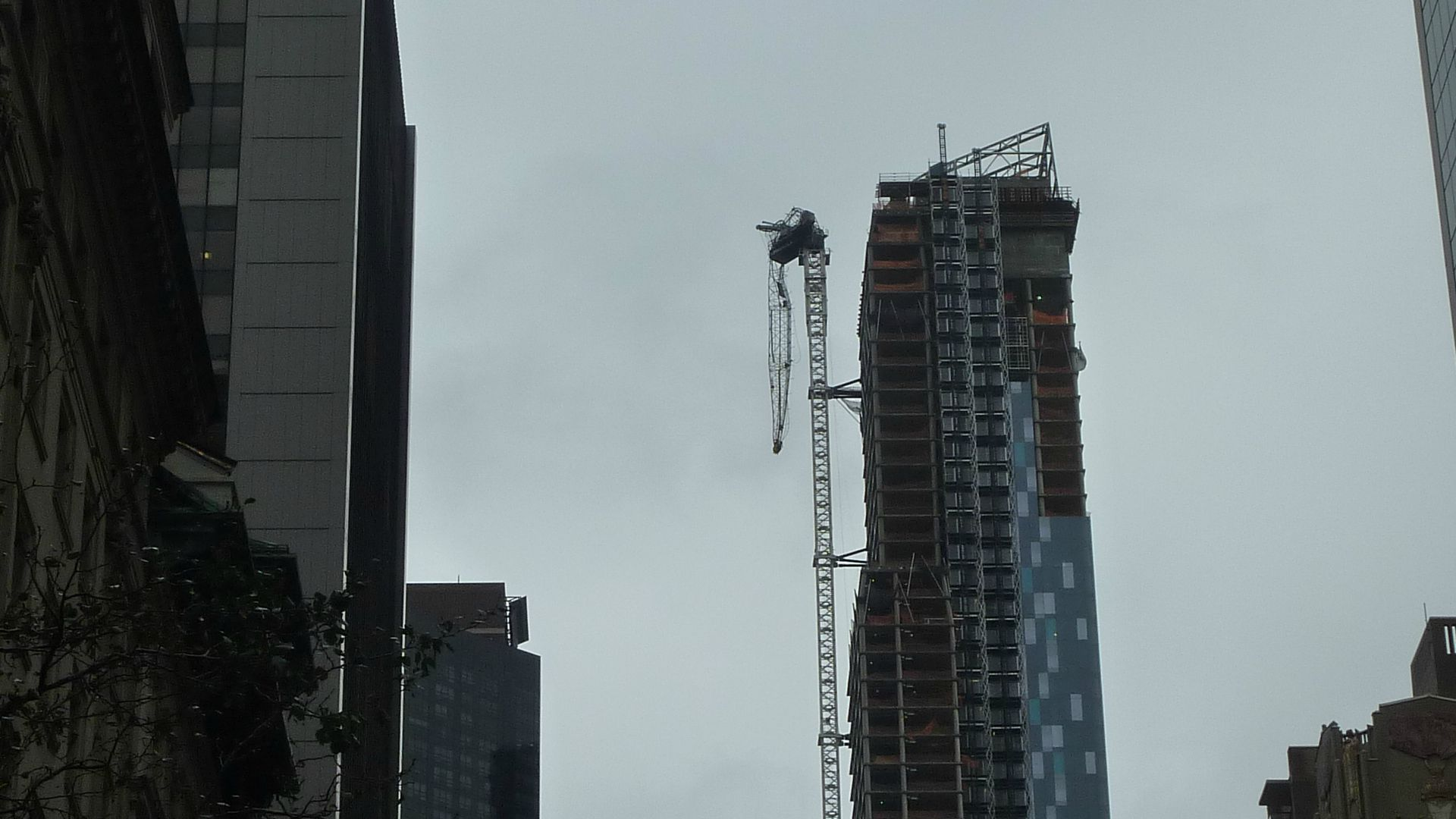 Gratte ciel en construction photo de sandy new york ouragan sandy hur - Construction gratte ciel ...