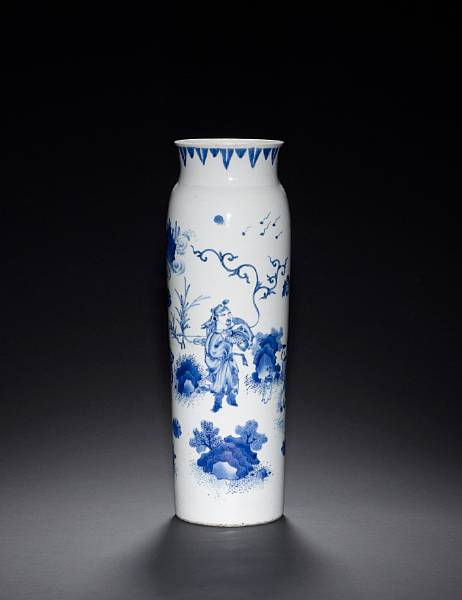 a transitional blue and white sleeve vase chongzhen circa 1640