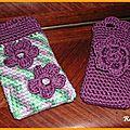 Pochette téléphone au crochet