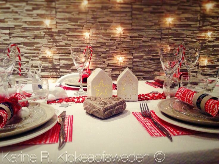 Table de no l blanc polaire et rouge gourmand kickea of for Table noel rouge et blanc