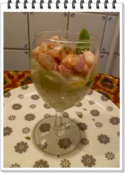 Verrines de concombre aux crevettes1