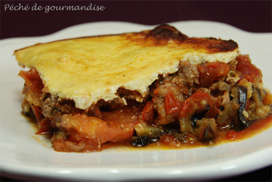 Moussaka traditionnelle - Péché de gourmandise