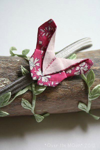 headband OB gris et rose2