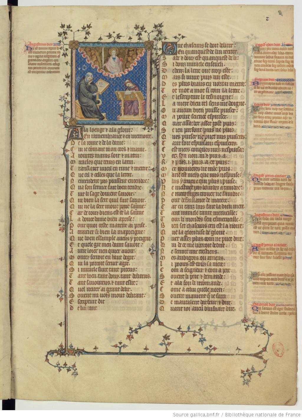 Gautier de Coinci manuscrit 1