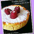 Tartelettes framboises, mousse au lait de coco