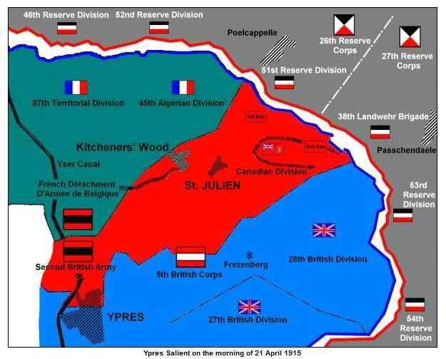 Forces en présence 2 nd bataille Ypres