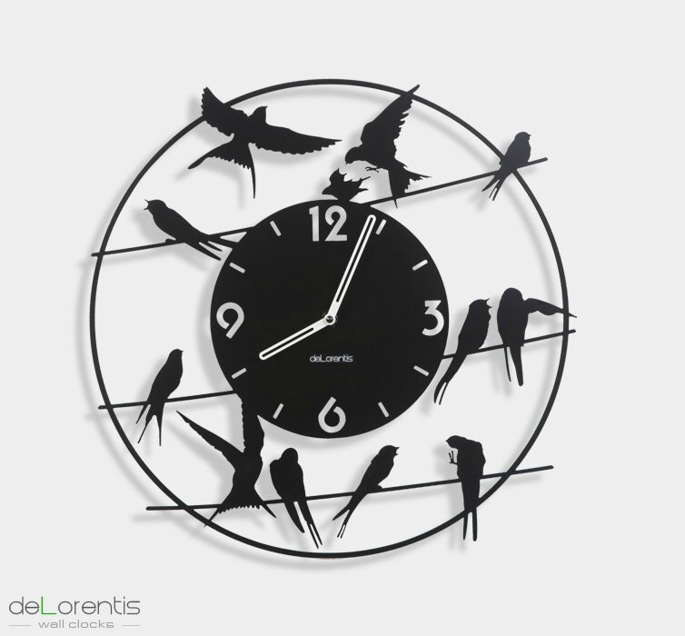 horloge design birdy rex temporis horloges murales delorentis. Black Bedroom Furniture Sets. Home Design Ideas