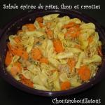 salade épicée pate thon carotte