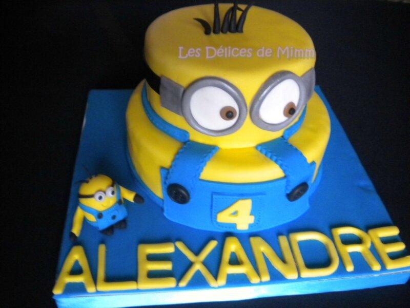Gâteau Minion 4