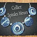 Collier: les spirales bleues