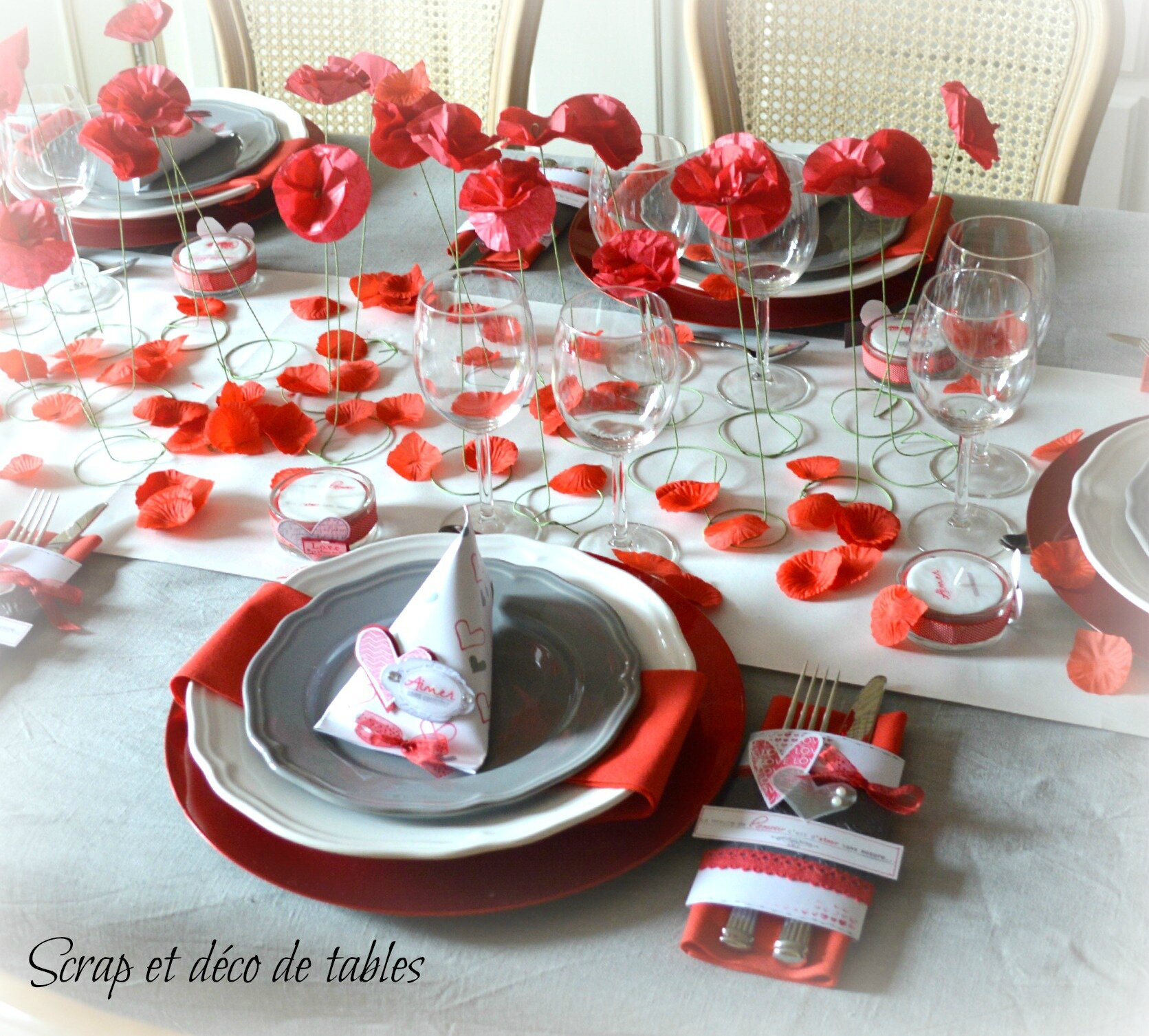 Table Saint Valentin avec deco de table saint-valentin 2015 - scrap et déco de tables