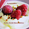 Mousse chocolat blanc - framboises