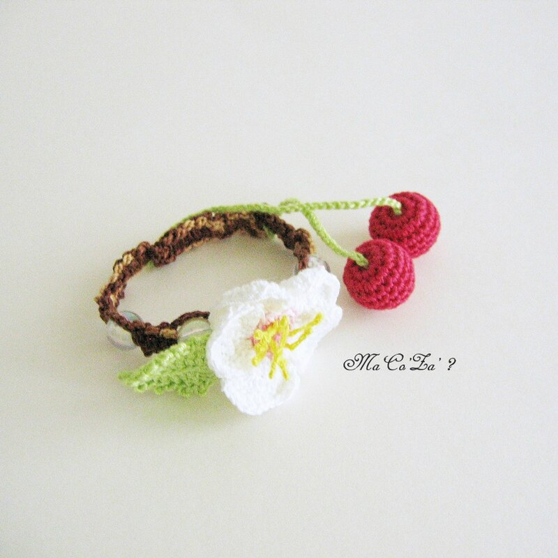 bracelet sakura shamballa crochet 2